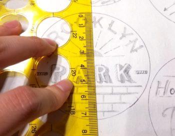 プラバンのデザインの大きさ