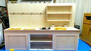 カラーボックスで作ったままごとキッチン