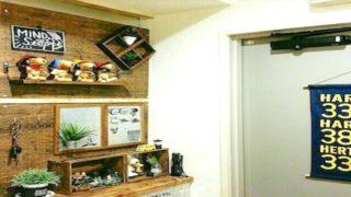 玄関の有孔ボード収納