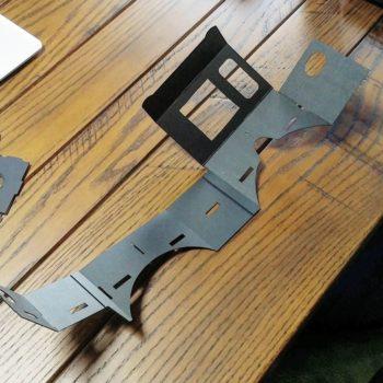 図面通りにVRカードボードを組み立てる