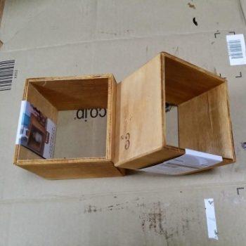 100均セリアの木箱