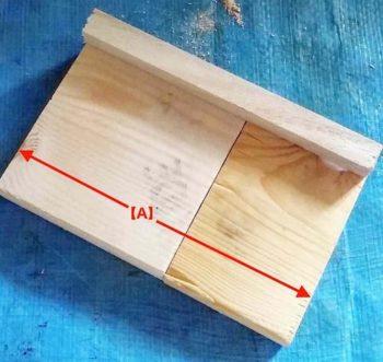 端材で幅14cmの板を作る