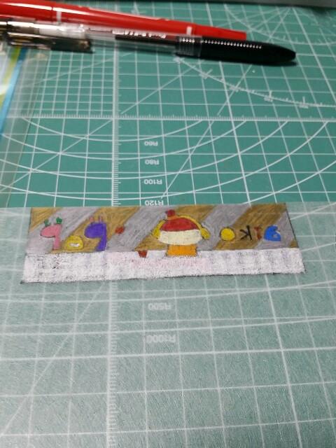 色鉛筆でのプラバン作り