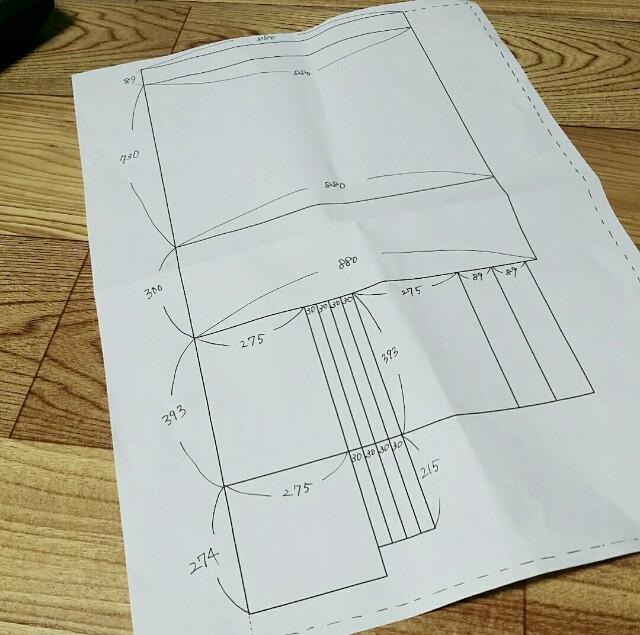 ベニヤ板のカット図