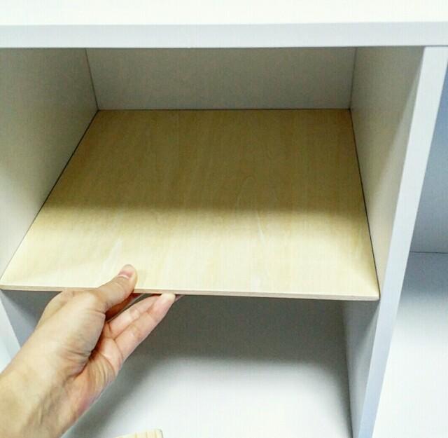 カラーボックスの棚板を作る