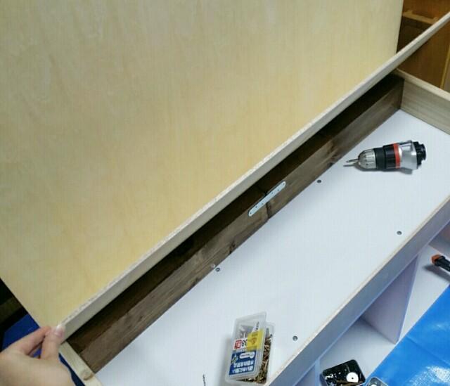 ままごとキッチンの天板をベニヤ板で作る方法