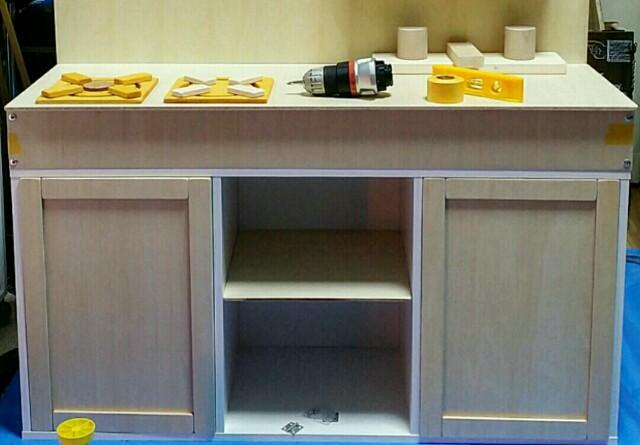 カラーボックスで作るままごとキッチン