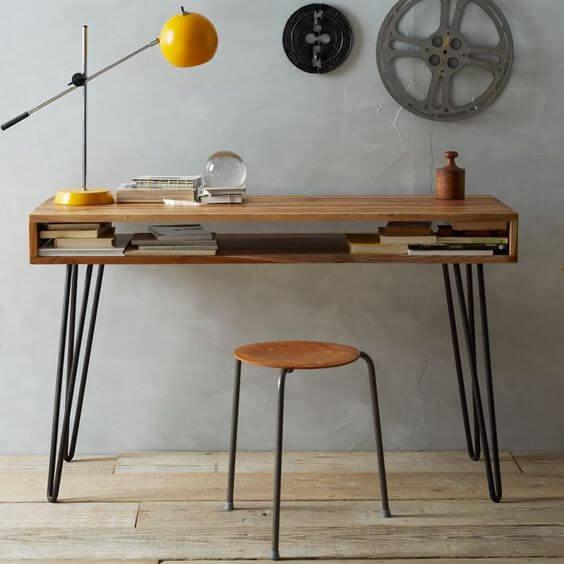Pinterestの海外インテリアのテーブル天板