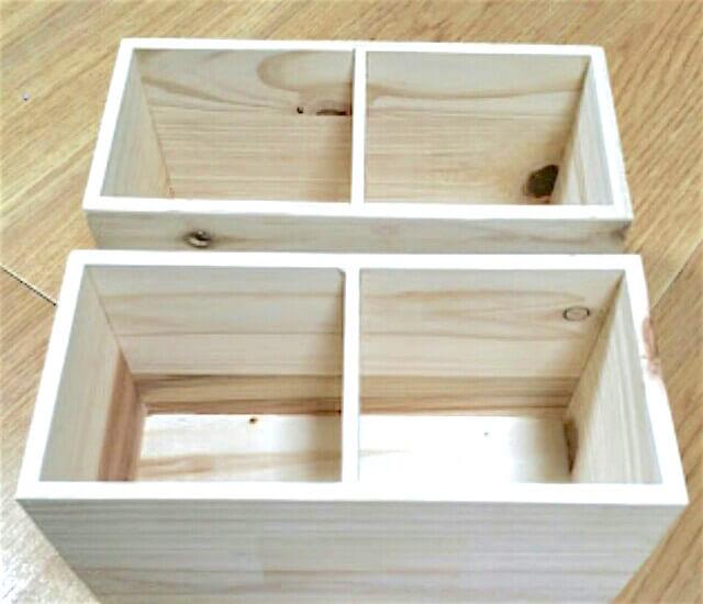 ダイソーの木箱