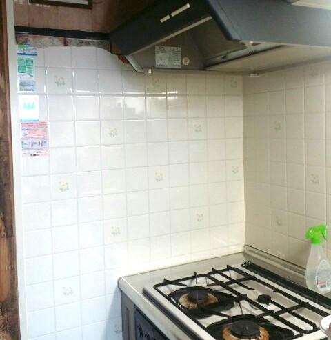 賃貸のキッチンタイル