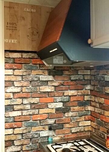 壁紙うを貼ったキッチンリメイク