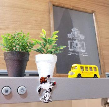 印刷プラバンで作ったスヌーピーのマグネット