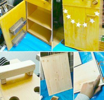 カラーボックスで作るままごと冷蔵庫の完成品