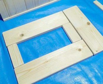 ままごとレンジの小窓付き扉の作り方
