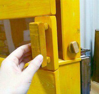 ままごとレンジに扉を取り付けて作る