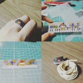 プラバンで作る指輪の作り方