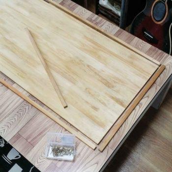 角材と集成材でDIYする天板の作り方