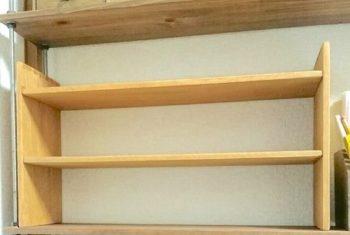 100均の木材でDIYした収納棚の完成品