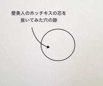 ホッチキスの穴